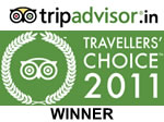 Winner of Travellers' Choice Award 2011 for Hill Station Hotels in India